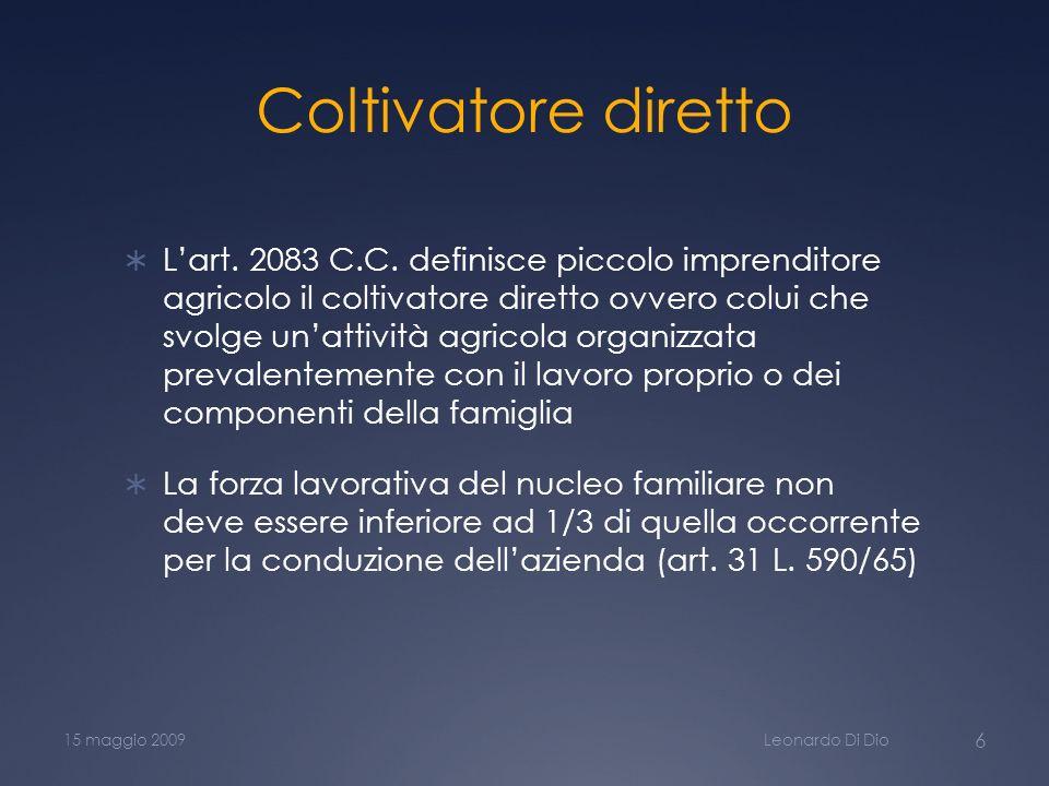 Coltivatore diretto Lart.2083 C.C.