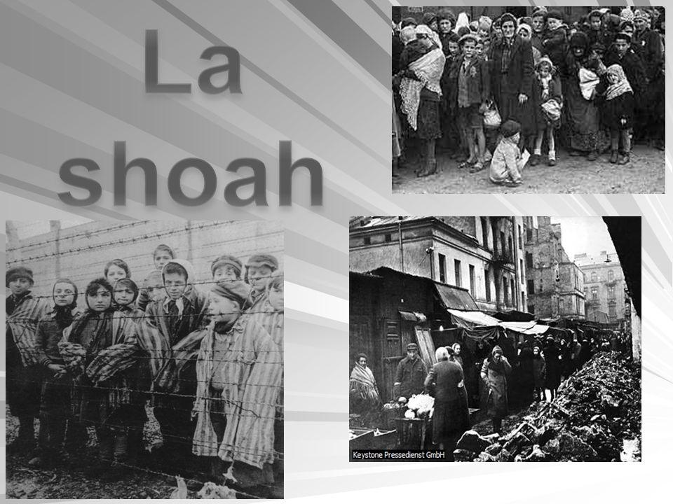 La shoah Shoah è un termine ebraico (che significa catastrofe, sterminio ), con il quale si indica la persecuzione lo sterminio di 6 milioni di ebrei europei da parte dei nazisti durante la Seconda guerra mondiale.