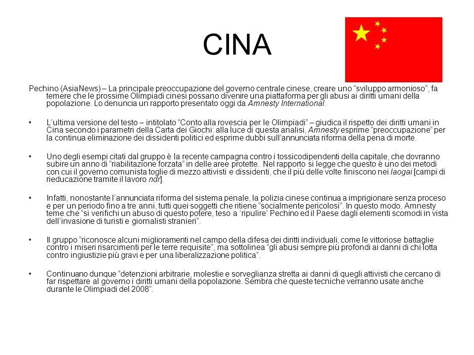 CINA Pechino (AsiaNews) – La principale preoccupazione del governo centrale cinese, creare uno sviluppo armonioso, fa temere che le prossime Olimpiadi