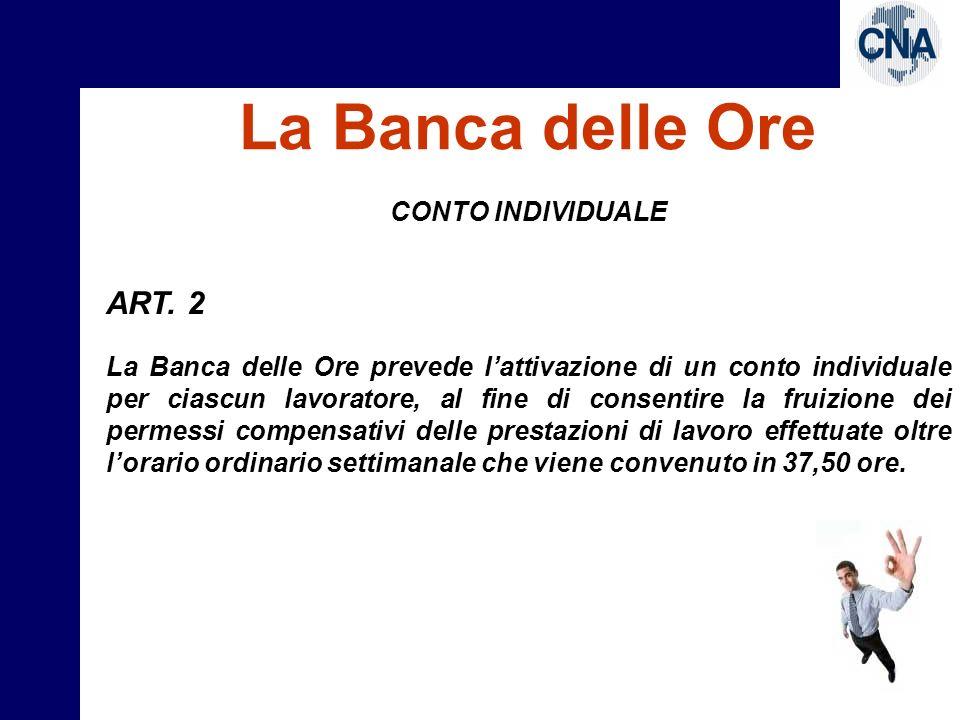 La Banca delle Ore RILEVAZIONE ART.