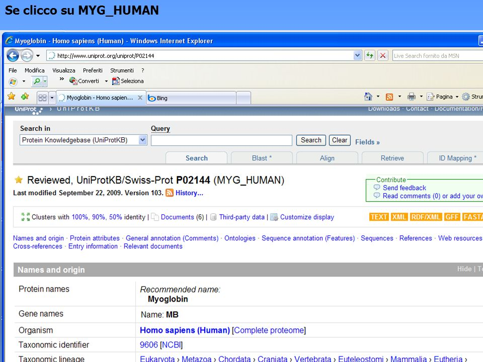 Se clicco su MYG_HUMAN