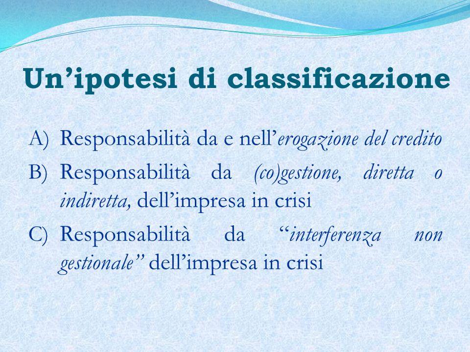 (A) Responsabilità da e nellerogazione del credito R.