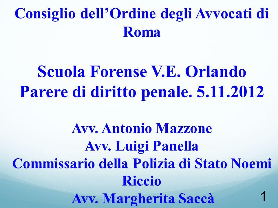 62 SENTENZA CORTE DI CASSAZIONE PENALE SEZ. II (23 novembre 2011, n. 46669).