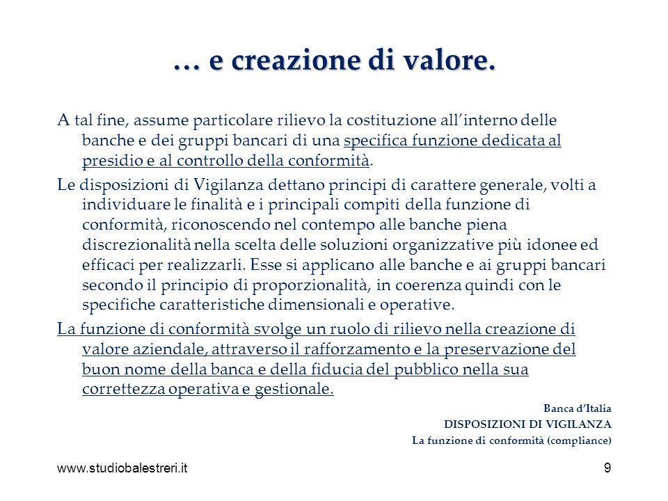 www.studiobalestreri.it9 … e creazione di valore.