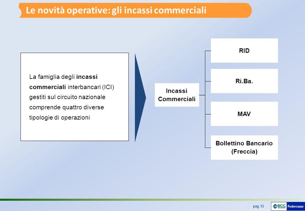 pag.13 Incassi Commerciali RID Ri.Ba.