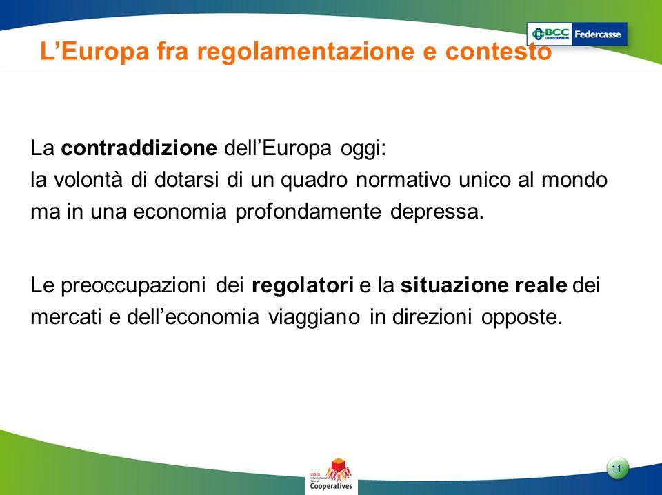 1 11 LEuropa fra regolamentazione e contesto La contraddizione dellEuropa oggi: la volontà di dotarsi di un quadro normativo unico al mondo ma in una