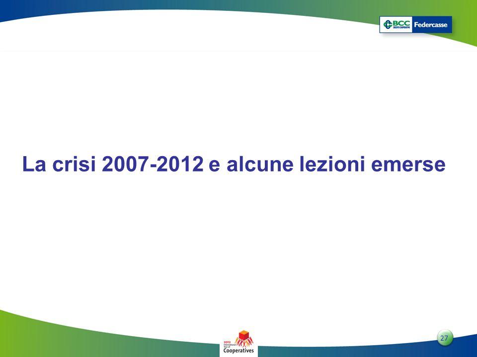 2727 27 La crisi 2007-2012 e alcune lezioni emerse