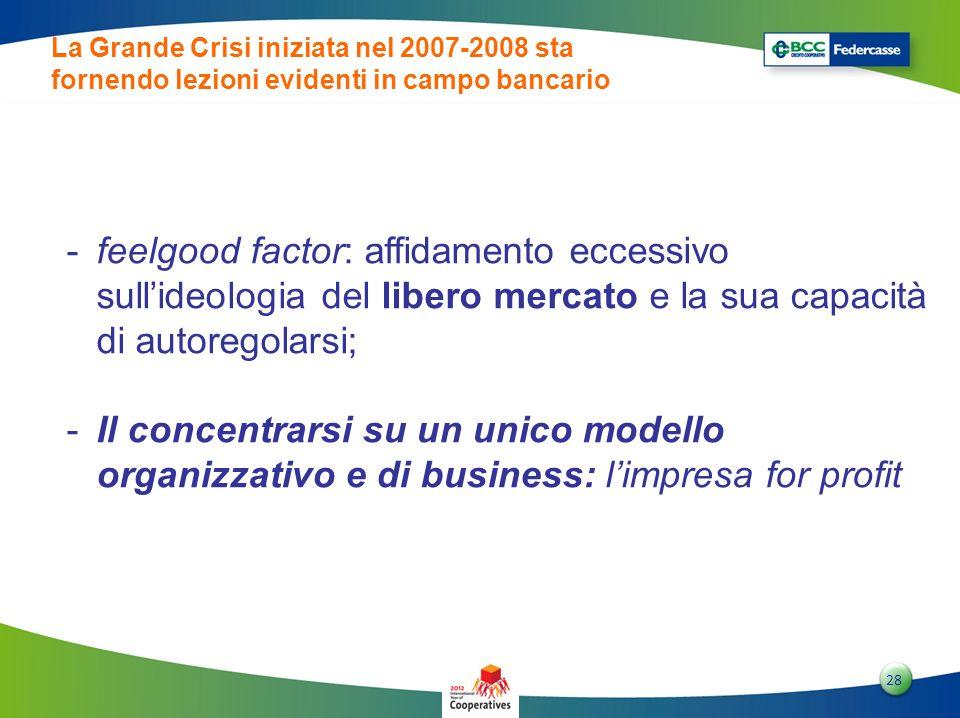 2828 28 -feelgood factor: affidamento eccessivo sullideologia del libero mercato e la sua capacità di autoregolarsi; -Il concentrarsi su un unico mode