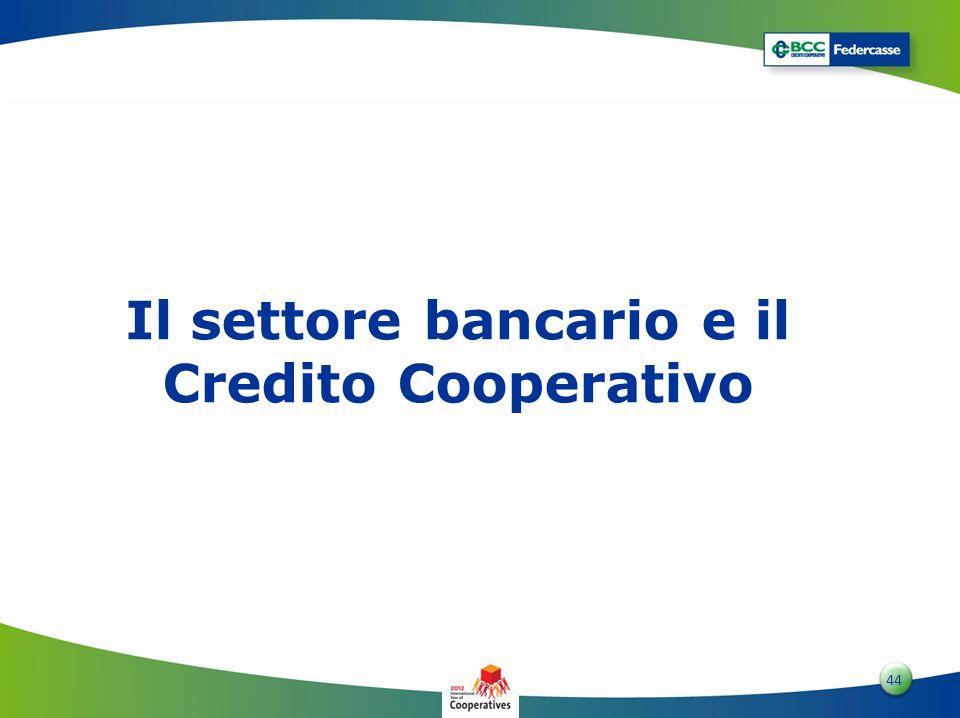 4 44 Il settore bancario e il Credito Cooperativo