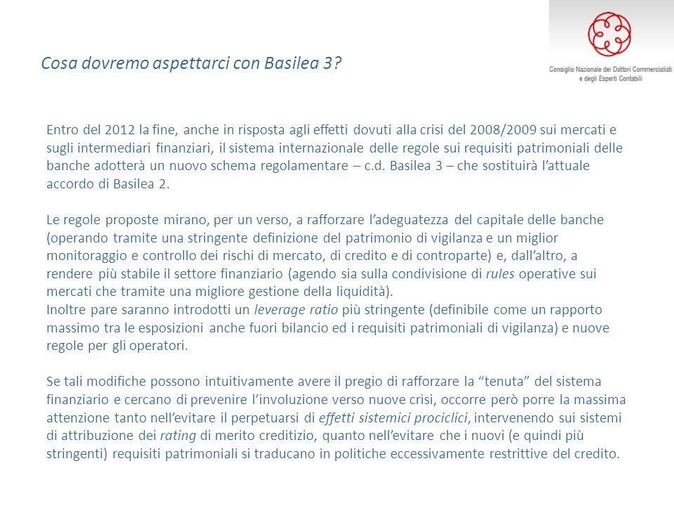 Cosa dovremo aspettarci con Basilea 3? Entro del 2012 la fine, anche in risposta agli effetti dovuti alla crisi del 2008/2009 sui mercati e sugli inte