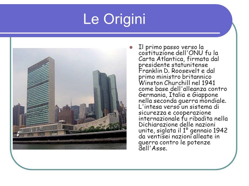 Assemblea Generale Il principale e più rappresentativo dei sei organi istituzionali di cui si compone l Organizzazione delle Nazioni Unite (ONU).