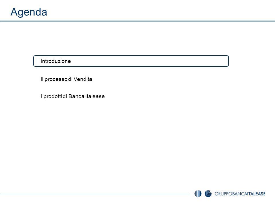 Agenda Introduzione Il processo di Vendita I prodotti di Banca Italease