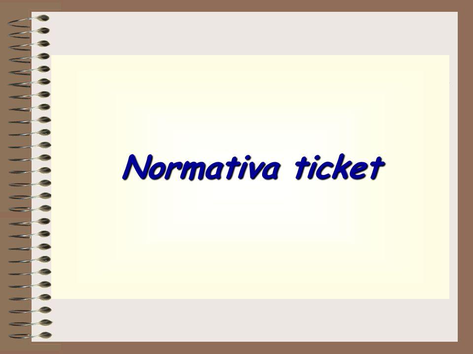 Normativa ticket