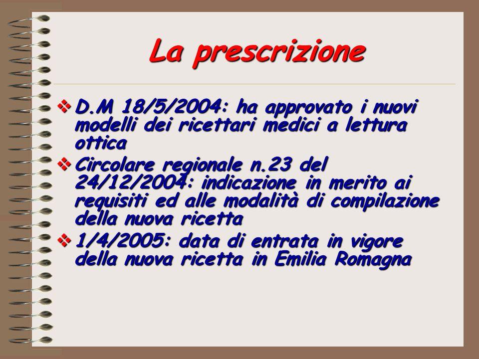 D.M 18/5/2004: ha approvato i nuovi modelli dei ricettari medici a lettura ottica D.M 18/5/2004: ha approvato i nuovi modelli dei ricettari medici a l