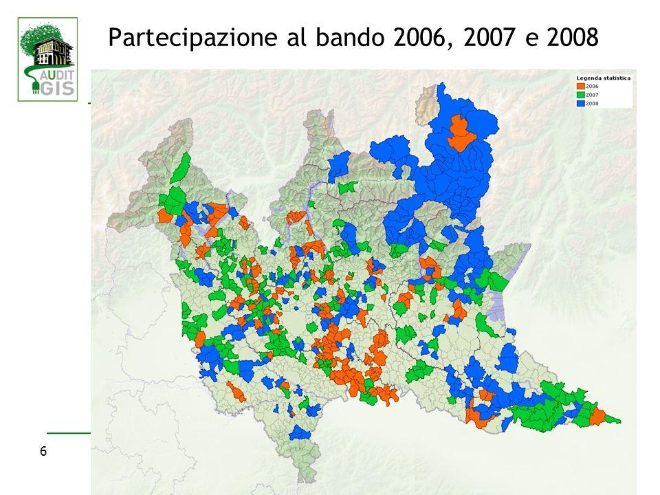 6 Partecipazione al bando 2006, 2007 e 2008