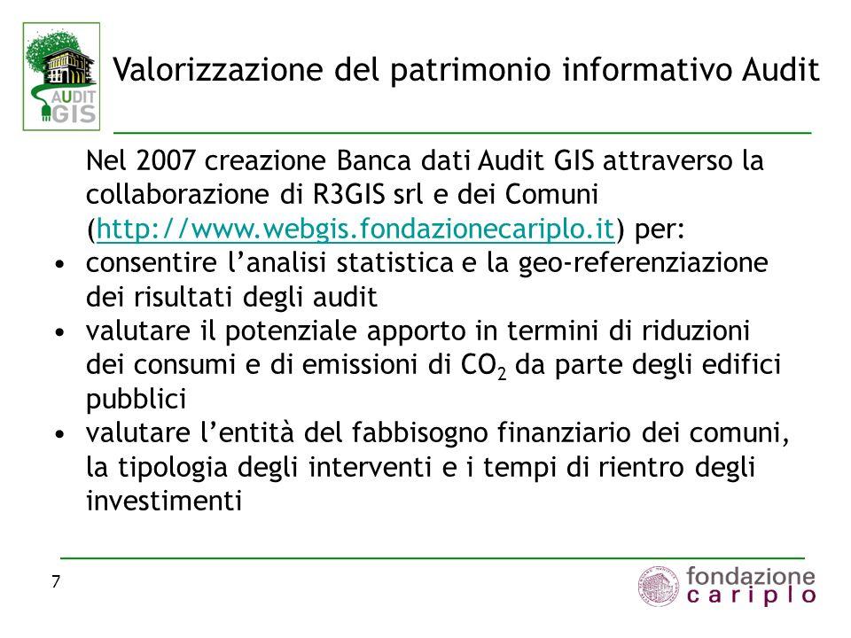 La banca dati Audit GIS