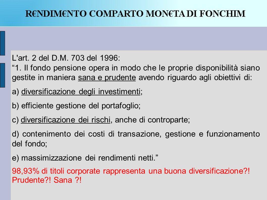 L art.2 del D.M. 703 del 1996: 1.
