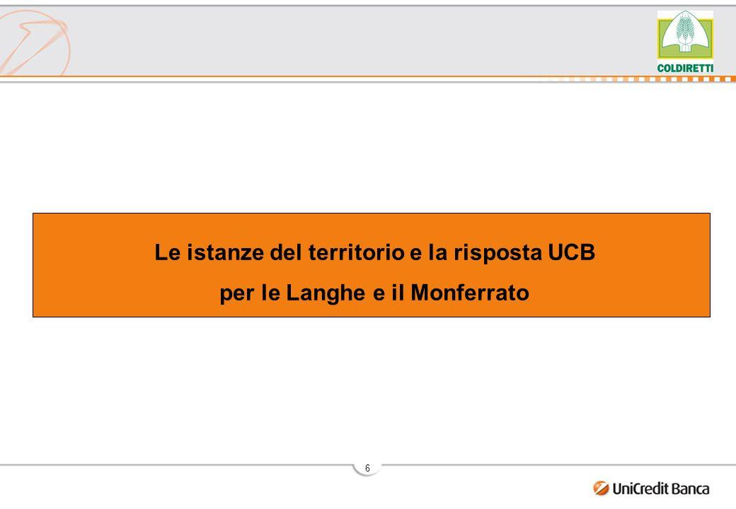 6 Le istanze del territorio e la risposta UCB per le Langhe e il Monferrato