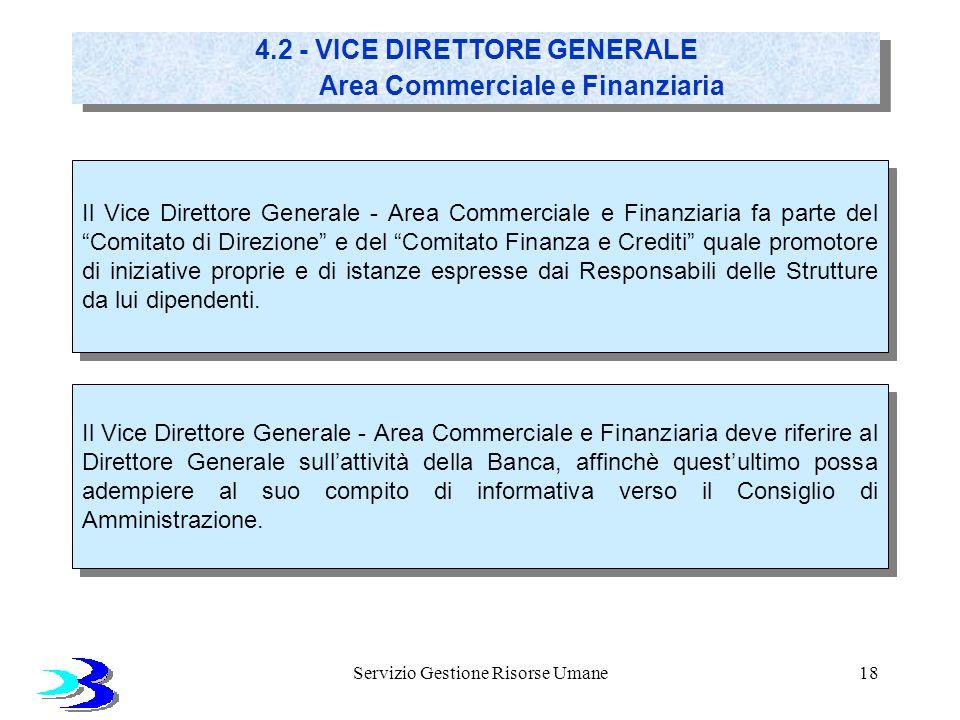 Servizio Gestione Risorse Umane18 Il Vice Direttore Generale - Area Commerciale e Finanziaria fa parte del Comitato di Direzione e del Comitato Finanz