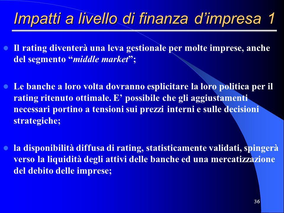 35 Banca – Confidi - Impresa Sviluppare anche nel segmento medio una cultura finanziaria Accompagnare le imprese in unottica di medio termine Interfac