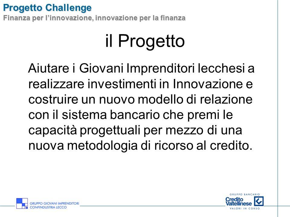 Progetto Challenge Finanza per linnovazione, innovazione per la finanza il Progetto Aiutare i Giovani Imprenditori lecchesi a realizzare investimenti