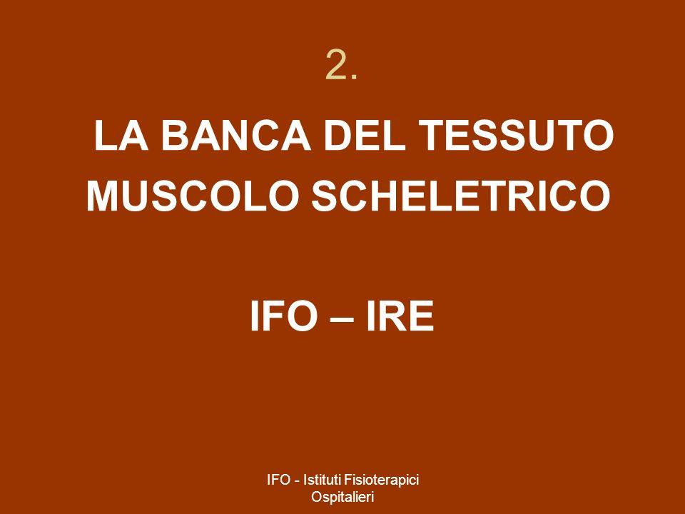 IFO - Istituti Fisioterapici Ospitalieri 2. LA BANCA DEL TESSUTO MUSCOLO SCHELETRICO IFO – IRE