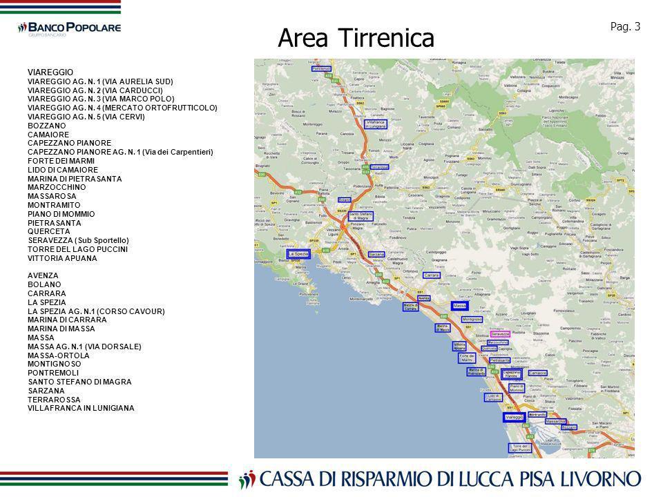 Pag. 3 Area Tirrenica VIAREGGIO VIAREGGIO AG. N.