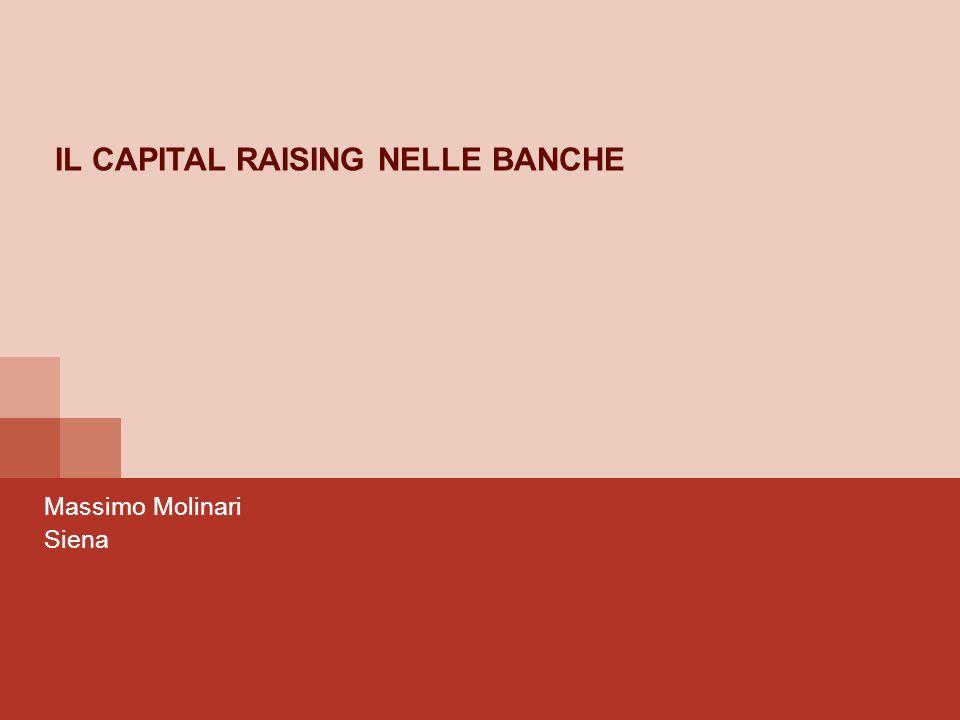 2 COSA VEDREMO INSIEME a)Il capitale bancario e la sua definizione normativa b)Quale è il livello di capitale ottimale per una banca (esercitazione) c)Come si realizza unemissione.
