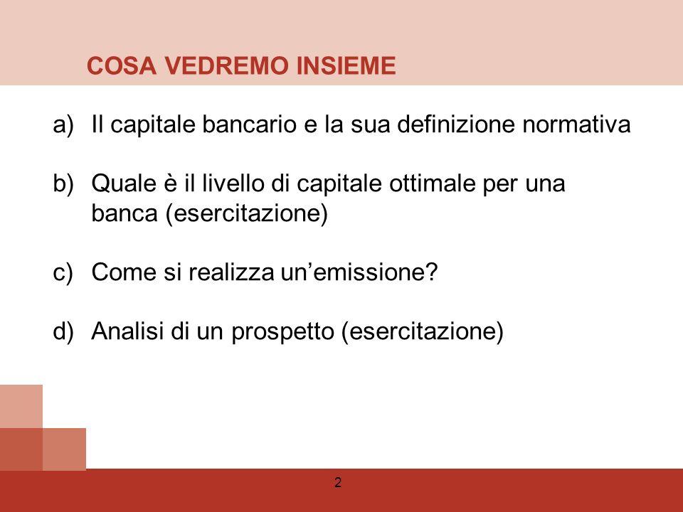 3 1)I principi generali della Regolamentazione internazionale 2)Il livello di capitale ottimale 3)La risposta normativa alla crisi 4)Basilea III Agenda