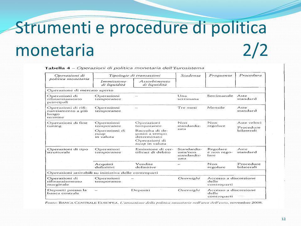 Strumenti e procedure di politica monetaria 2/2 12