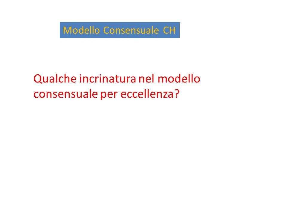 Modello Consensuale CH Qualche incrinatura nel modello consensuale per eccellenza?