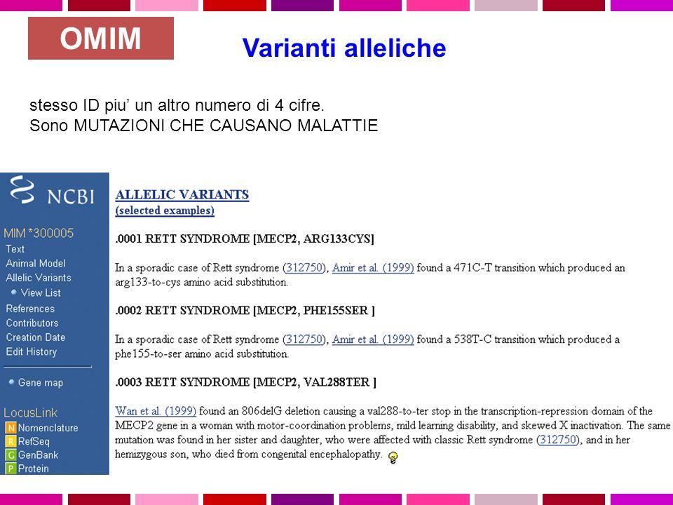 Varianti alleliche stesso ID piu un altro numero di 4 cifre.