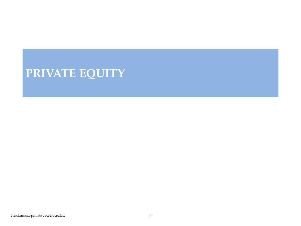 Strettamente privato e confidenziale Private Equity: Strategia di Investimento (1/3) 8 Il private equity è un attività finanziaria mediante la quale un investitore istituzionale rileva quote di una società target (obiettivo) sia acquisendo azioni esistenti da terzi sia sottoscrivendo azioni di nuova emissione apportando nuovi capitali all interno della target.finanziariainvestitore istituzionalesocietà L obiettivo è di generare ritorni sugli investimenti pari ad almeno 2x, mediante acquisizione di: - quote di minoranza qualificate in società quotate - quote di minoranza di società non quotate per accompagnarle successivamente in Borsa (pre-IPO) Lorizzonte temporale di ogni singolo investimento è di 3-5 anni.