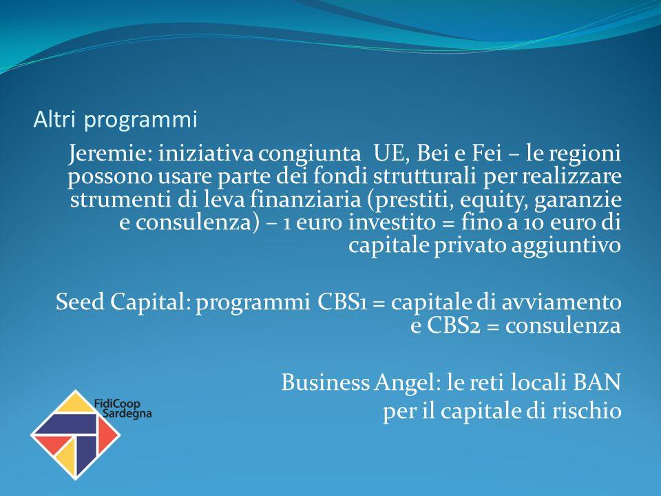 Il Fondo di Garanzia FERS In attuazione della LR1/2009 art.