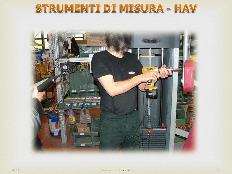 SISTEMA DI ACQUISIZIONE ACCELLEROMETRO TRIASSIALE FILTRO 2012Rumore e vibrazioni75