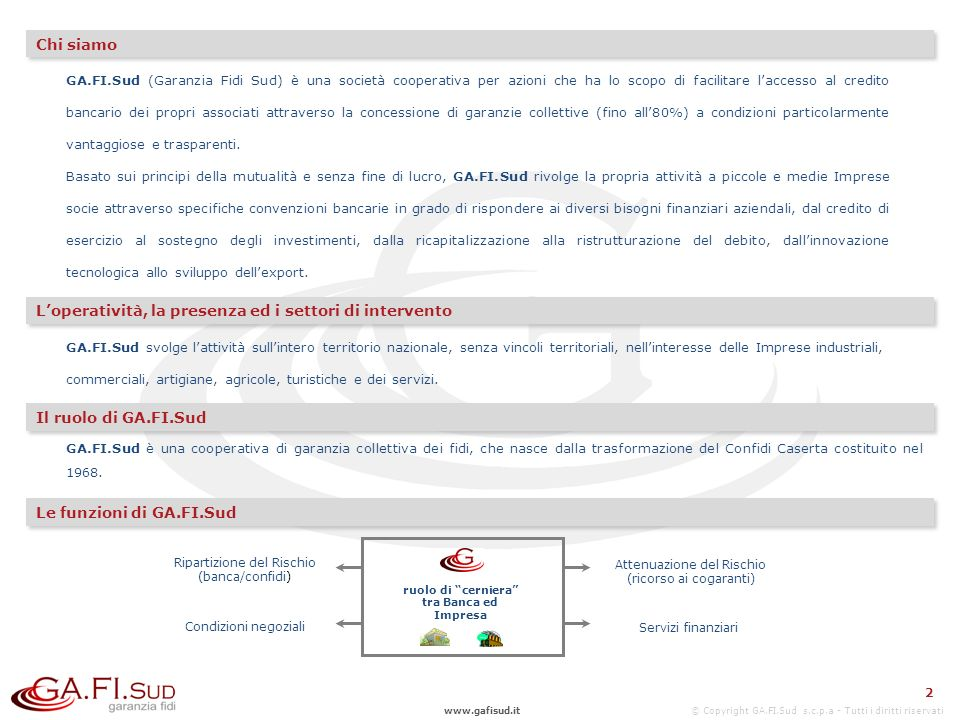 www.gafisud.it © Copyright GA.FI.Sud s.c.p.a - Tutti i diritti riservati Contatti commerciali NAPOLI (Sede Legale) Piazza Carolina, 19 – 80132 CASERTA (Dir.