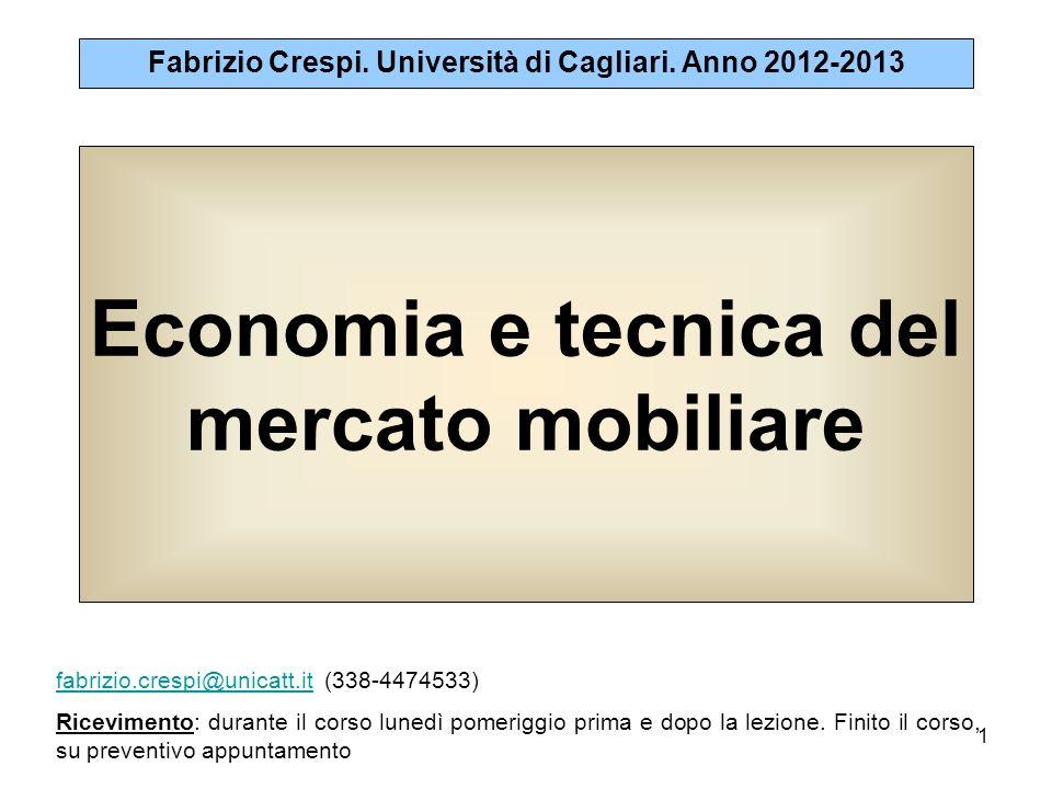 1 Economia e tecnica del mercato mobiliare Fabrizio Crespi.
