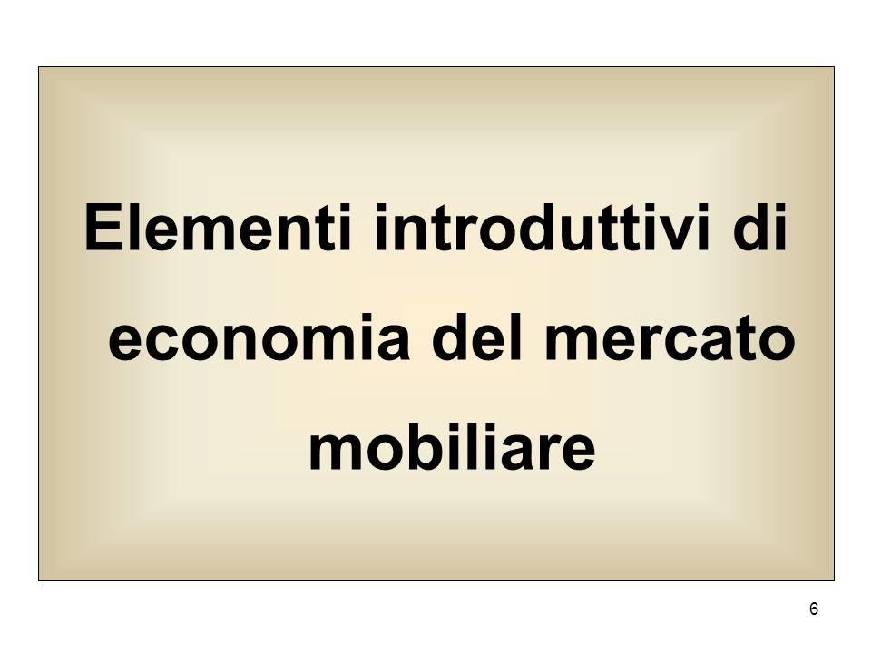 6 Elementi introduttivi di economia del mercato mobiliare