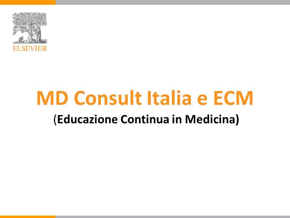 MD Consult Italia e ECM (Educazione Continua in Medicina)