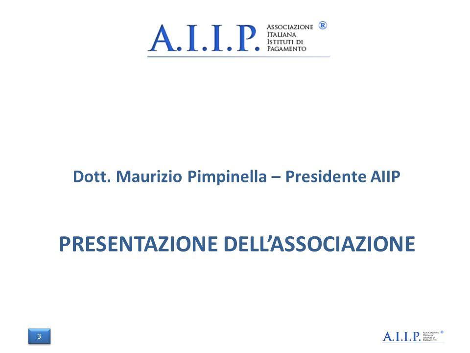 PRESENTAZIONE DELLASSOCIAZIONE Dott. Maurizio Pimpinella – Presidente AIIP 3