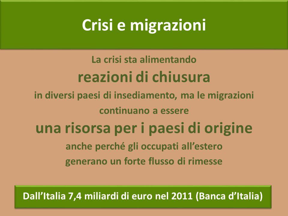 La crisi sta alimentando reazioni di chiusura in diversi paesi di insediamento, ma le migrazioni continuano a essere una risorsa per i paesi di origin