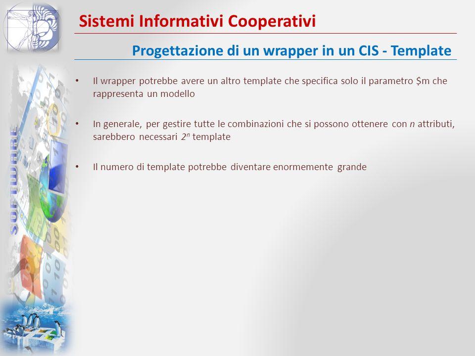 Sistemi Informativi Cooperativi Il wrapper potrebbe avere un altro template che specifica solo il parametro $m che rappresenta un modello In generale,
