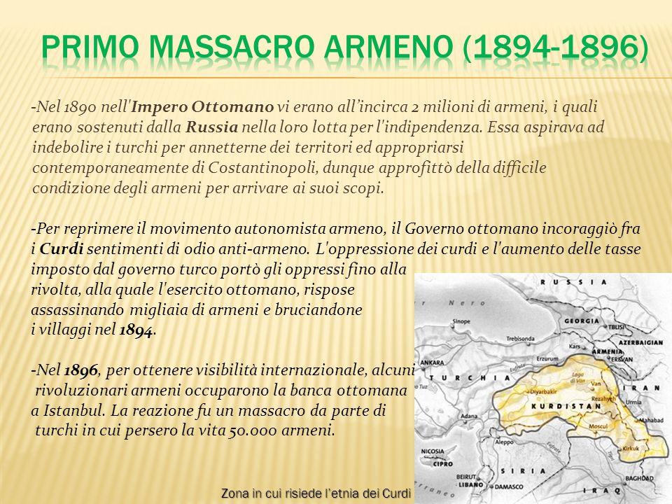 -Nel periodo precedente la prima guerra mondiale all impero ottomano era succeduto il governo dei Giovani Turchi, i quali temevano che gli armeni potessero allearsi coi russi, di cui erano nemici.