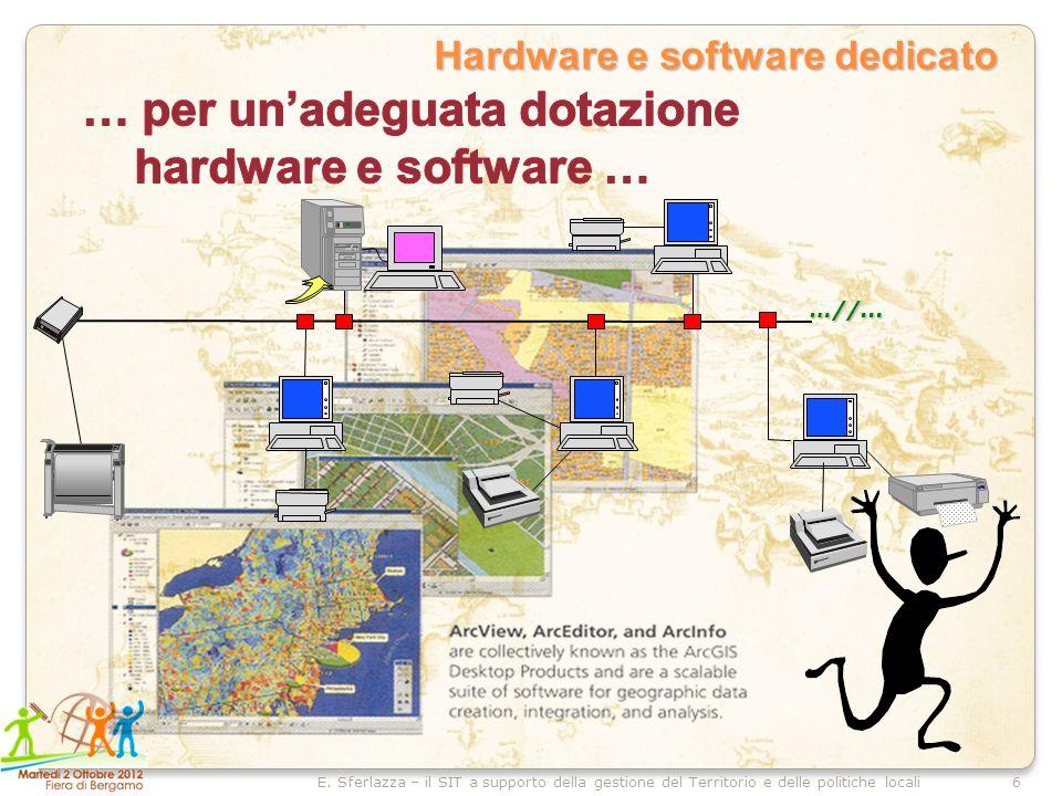 6E. Sferlazza – il SIT a supporto della gestione del Territorio e delle politiche locali Hardware e software dedicato …//...
