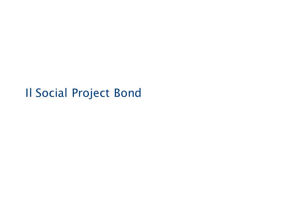 Il Social Project Bond