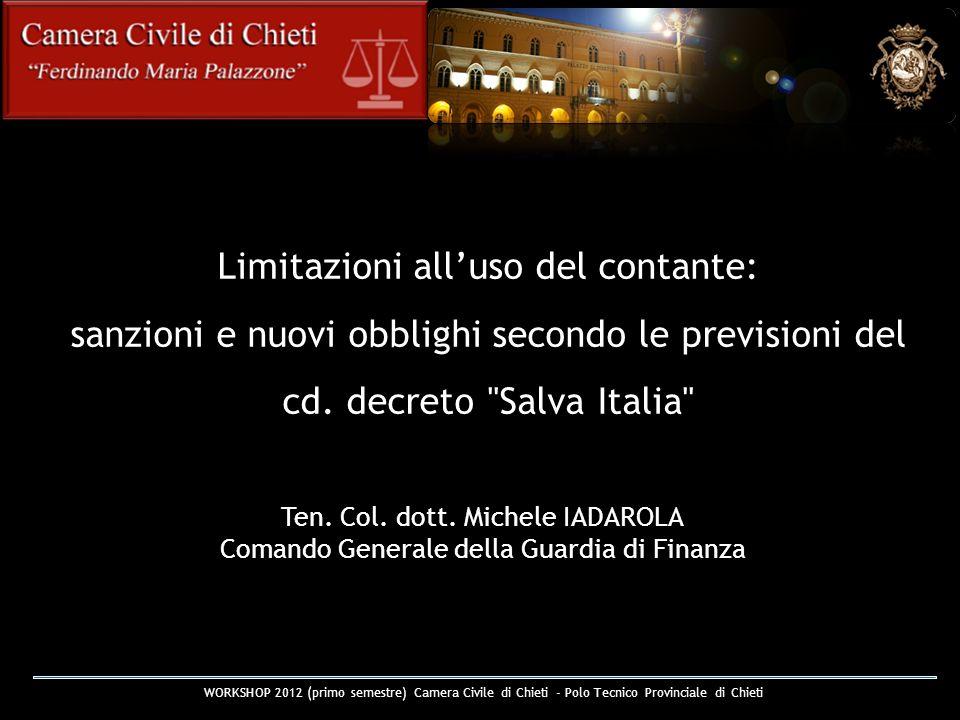 Limitazioni alluso del contante: sanzioni e nuovi obblighi secondo le previsioni del cd. decreto