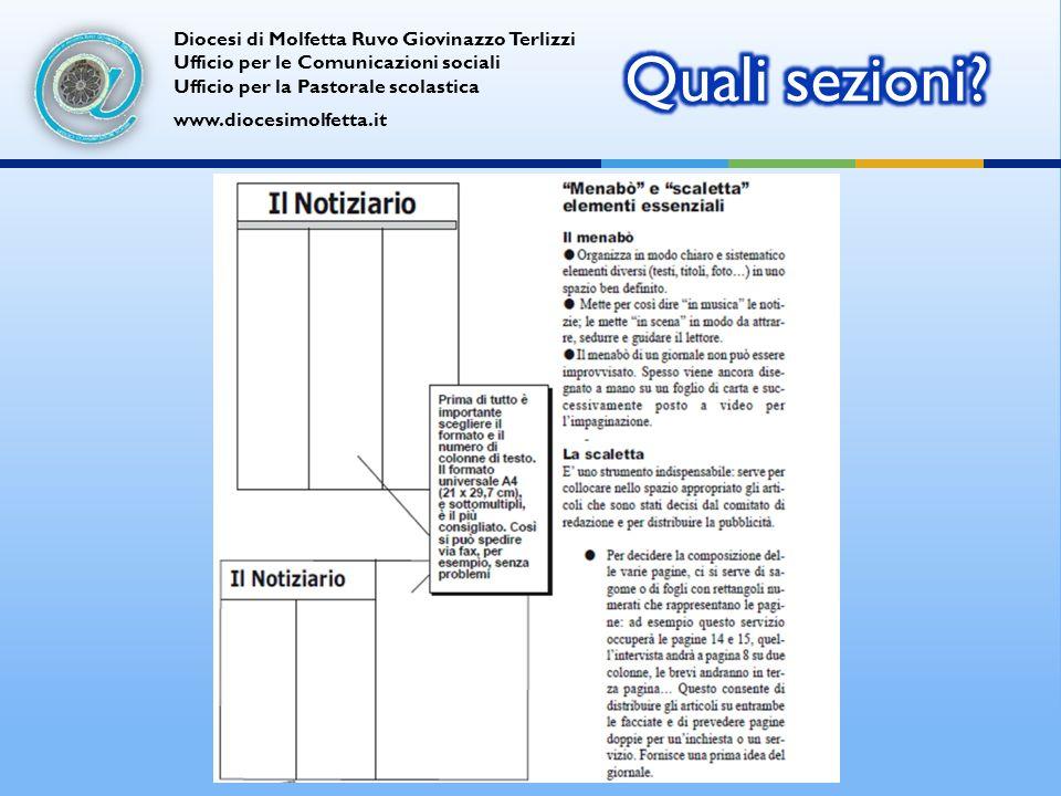 Diocesi di Molfetta Ruvo Giovinazzo Terlizzi Ufficio per le Comunicazioni sociali Ufficio per la Pastorale scolastica www.diocesimolfetta.it