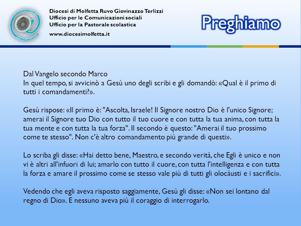 Diocesi di Molfetta Ruvo Giovinazzo Terlizzi Ufficio per le Comunicazioni sociali Ufficio per la Pastorale scolastica www.diocesimolfetta.it Ant.