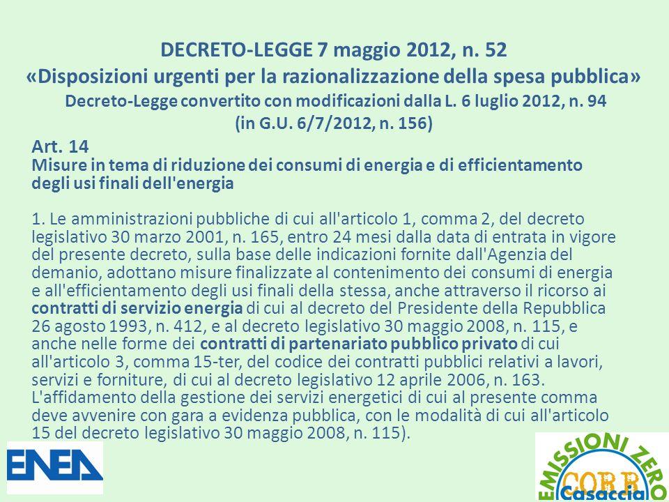 DECRETO-LEGGE 7 maggio 2012, n.