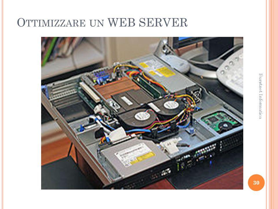 O TTIMIZZARE UN WEB SERVER 30 Burstnet Informatica